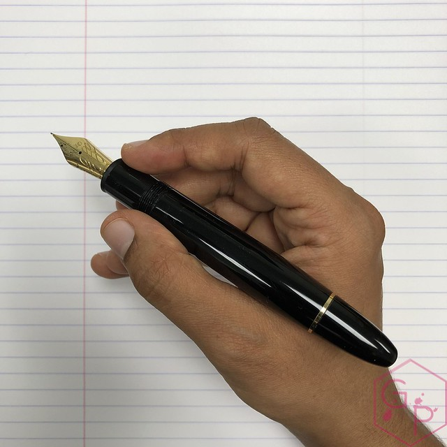 Modern Flex Fountain Pen Comparison - Montblanc 149 Calligraphy Flex vs. Aurora 88 Mottishaw Spencerian 16