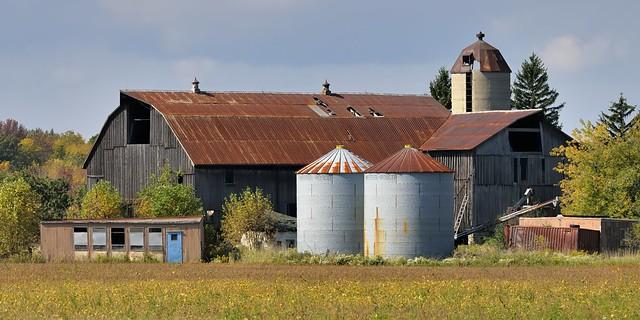 Study in rust - abandoned barn complex, Caledon, Ontario.