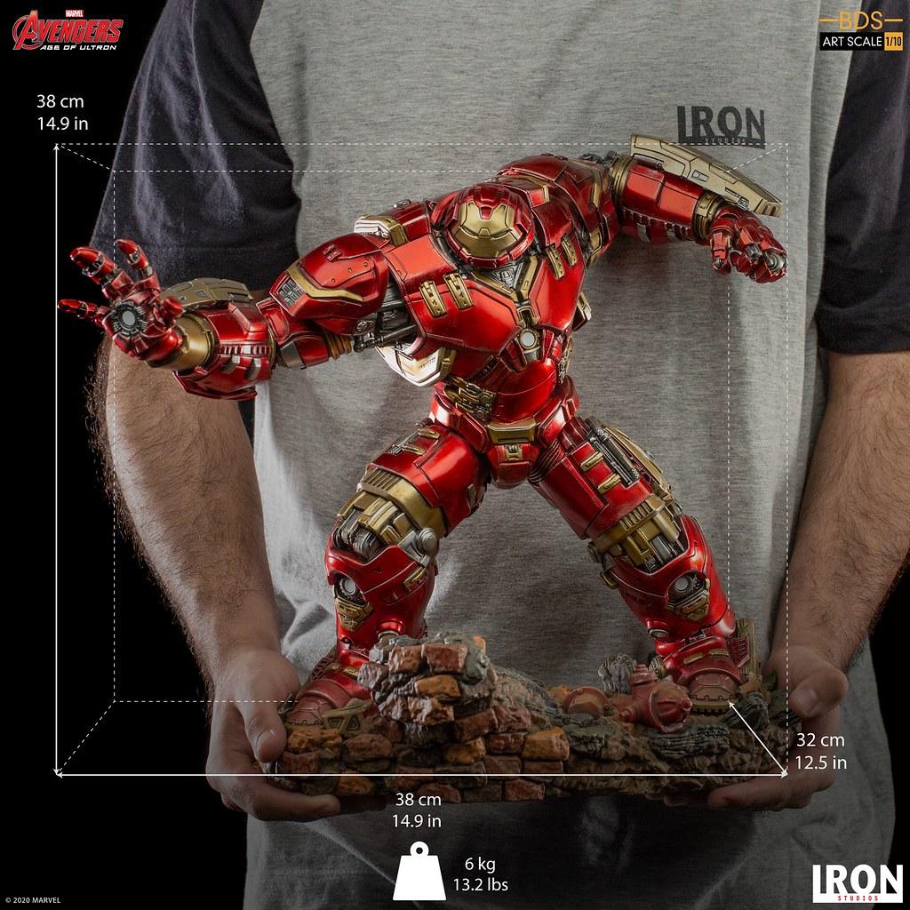 大人氣的重量級裝甲魄力再臨! Iron Studios Battle Diorama 系列《復仇者聯盟2:奧創紀元》浩克毀滅者(Hulkbuster)1/10 比例全身雕像