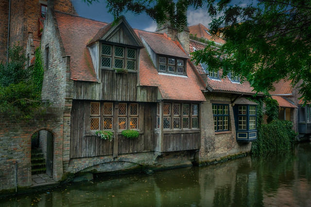 Ancient romantic houses on the canal