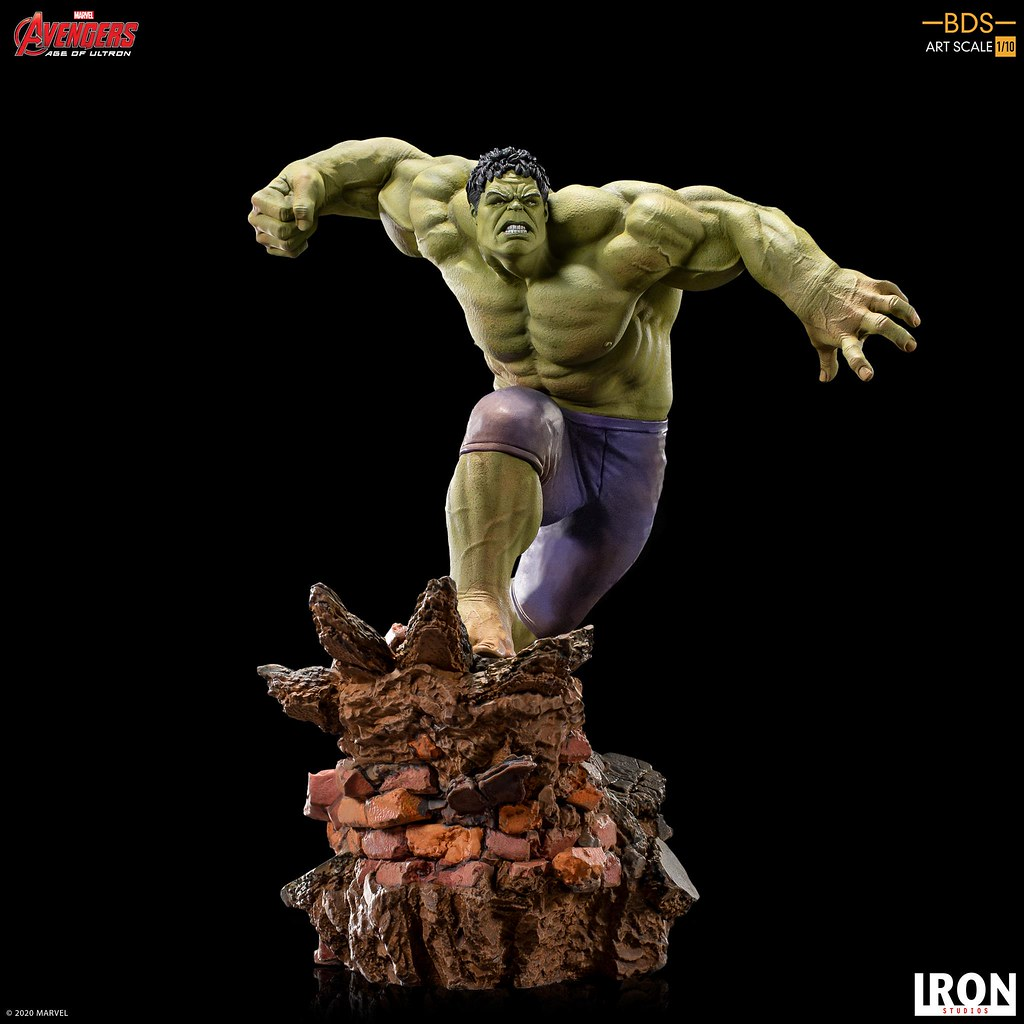 暴亂的綠色大塊頭來襲! Iron Studios Battle Diorama 系列《復仇者聯盟2:奧創紀元》浩克(Hulk)1/10 比例全身雕像