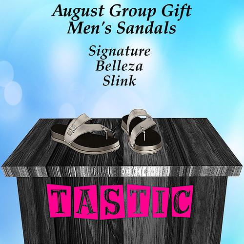 Tastic-August Men's Sandals Group Gift!!