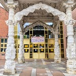 Doorway to the Gujarat Hindu Society and Community Centre in Preston