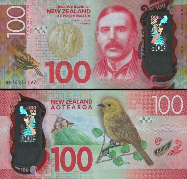 100 dolárov Nový Zéland 2016, P 195 polymer