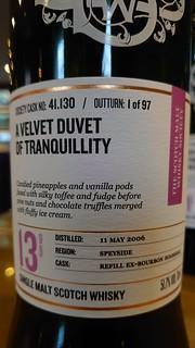 SMWS 41.130 - A velvet duvet of tranquillity
