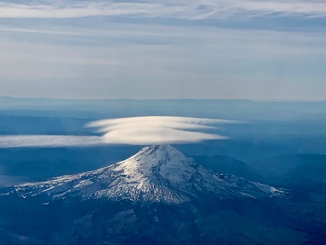 Mt. Hood view from above