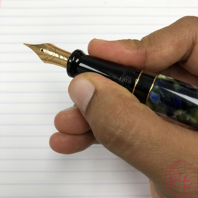 Modern Flex Fountain Pen Comparison - Montblanc 149 Calligraphy Flex vs. Aurora 88 Mottishaw Spencerian 10