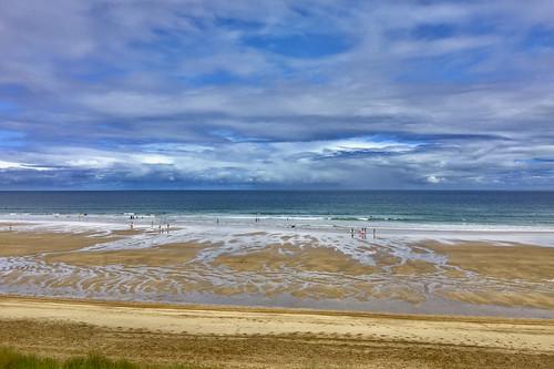 Tiempo de hoy a la mañana en la playa de Zarautz