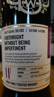 SMWS 39.193 - Forthright without being impertinent