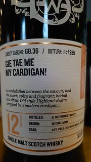 SMWS 68.36 - Gei tae me my cardigan!