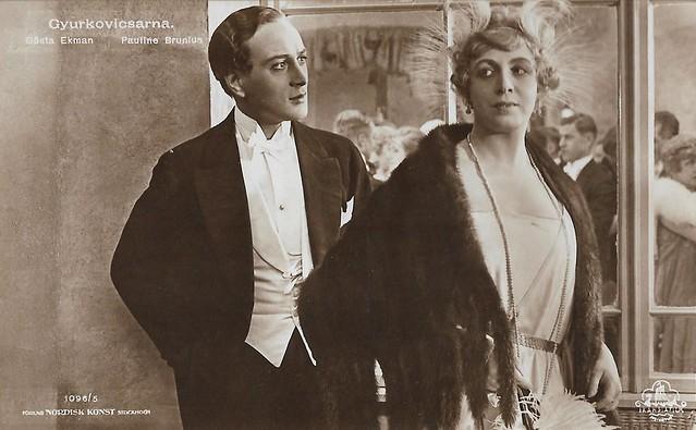 Gösta Ekman and Pauline Brunius in Gyurkovicsarna (1920)