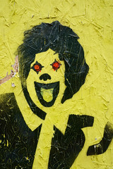 Yellow Clown Graffiti