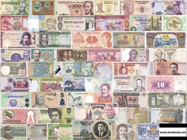 50 rôznych bankoviek svet, každá z inej krajiny