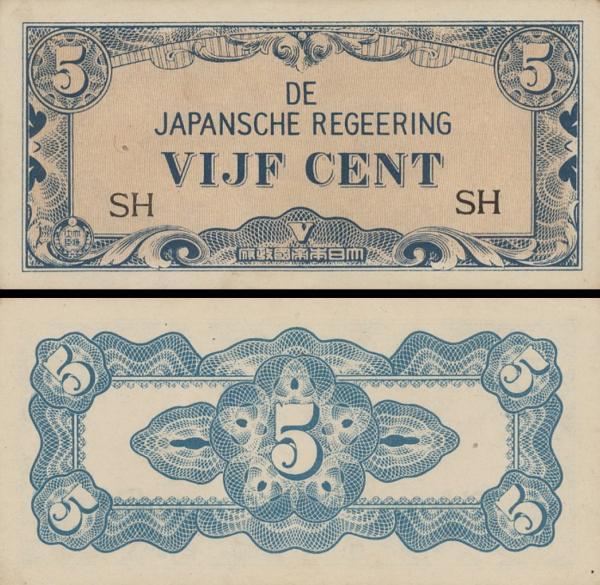 5 Centov Holandská India 1942, P119