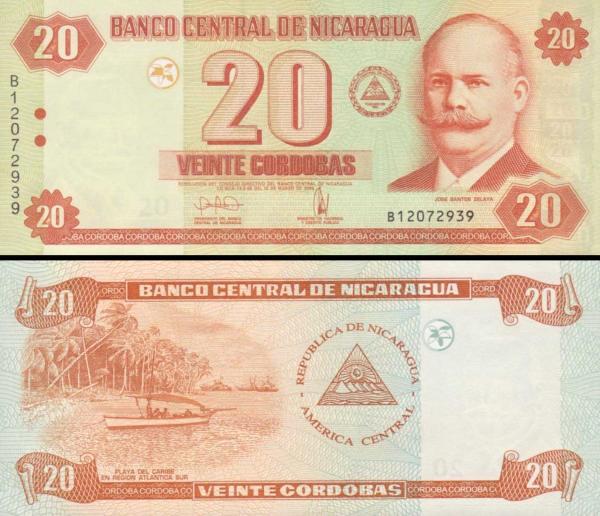 20 Córdobas Nikaragua 2006, P197