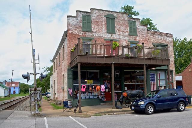 Former C&O Railroad Tracks divide Augusta, Kentucky