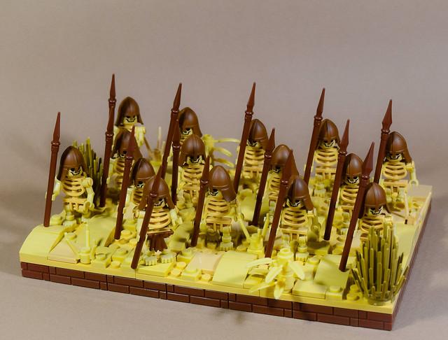 Desert Ancients Faction Regular Unit: Sand Skeleton Spears