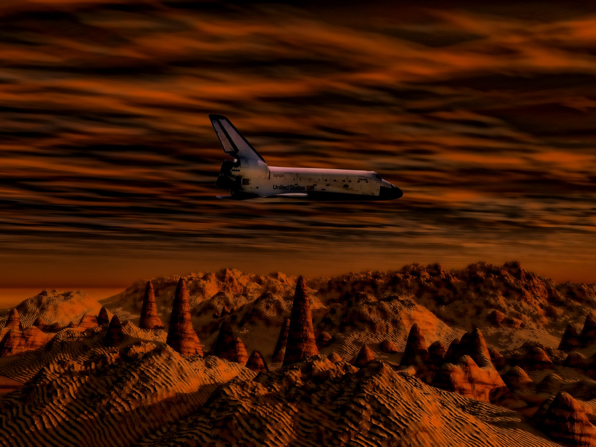Approach to Mars