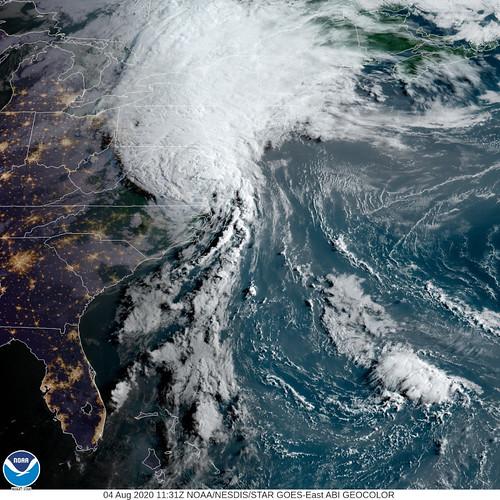 NOAA photo, Hurricane Isaias, August 4, 2020
