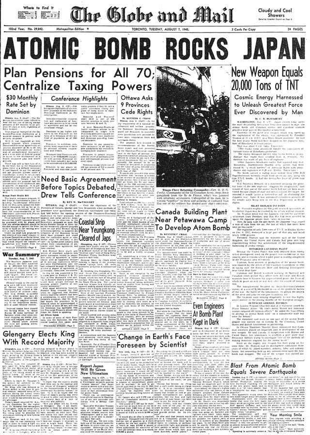 gm 1945-08-07 front page