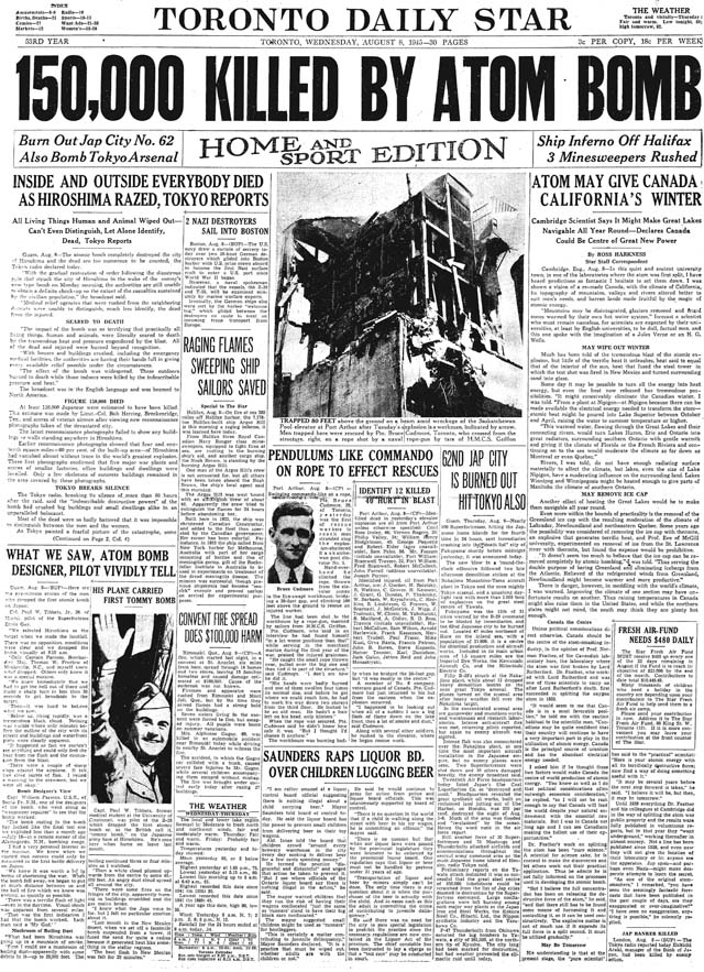 star 1945-08-08 front page