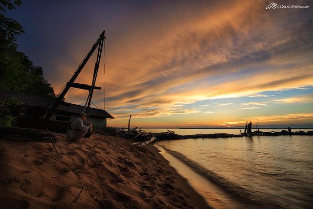 Sunset on the photographer