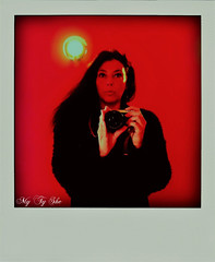 Primary.Self-portrait in red and yellow