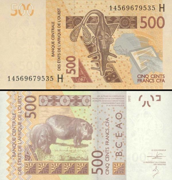 500 Frankov Niger (WAS) 2012-14, P619Hc
