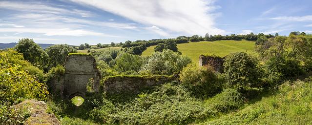 Wigmore Castle England Panorama