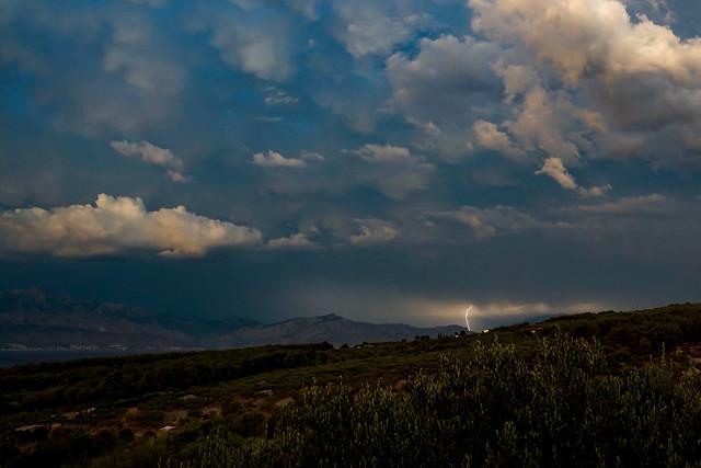 Lightning over Brač