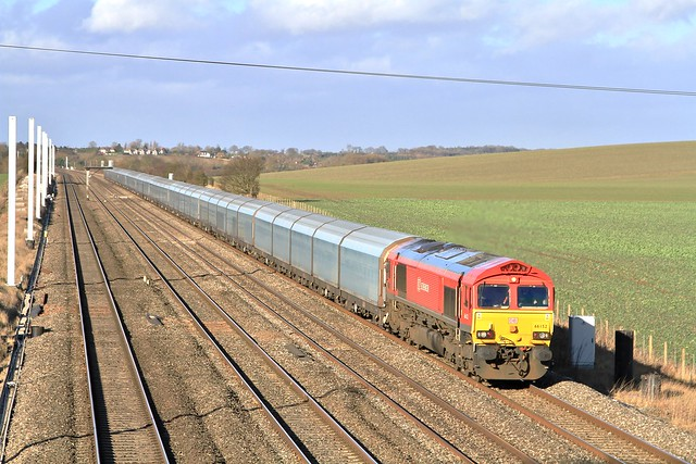 DB Cargo 66152 6O30 Cholsey Manor Farm 15/01/15
