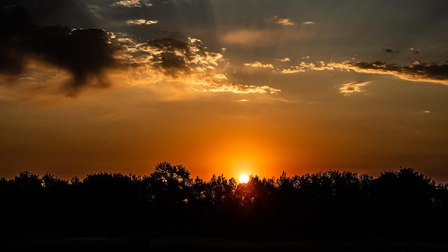 Sunrise this morning.