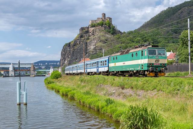 Ústí nad Labem-Střekov, 21 juli 2020 | ČD  163 072