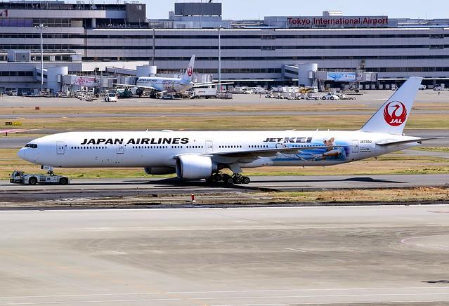 JA733J Boeing 777-300 JAL Jet Kei scheme 2018-03-17 Tokyo Haneda