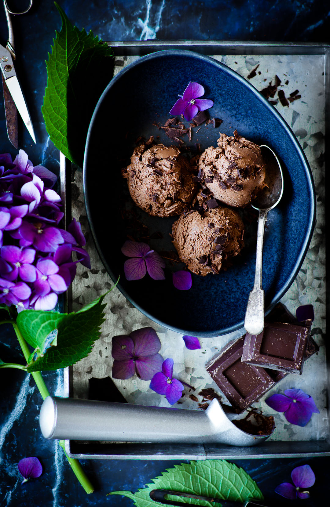the creamiest avo chocolate ice cream