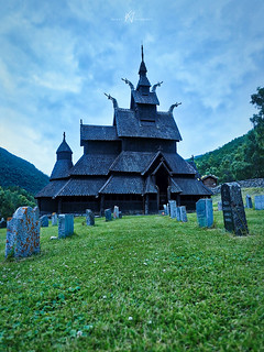 Evening at Borgund Stavkirke
