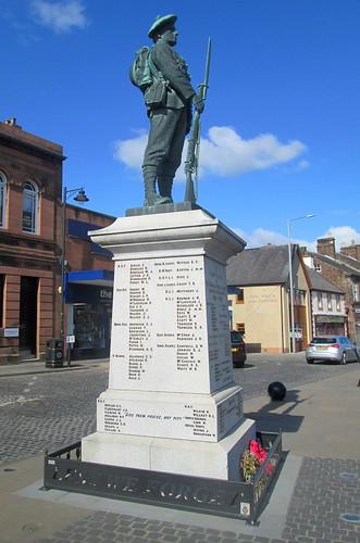 War Memorial, Annan from West.