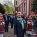 Procesión 2019 de la Sagrada Lanzada. Domingo de Ramos. Hermandad de los Estudiantes de Oviedo, Asturias, España.
