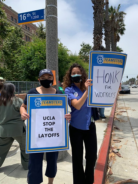 UCLA Santa Monica June 24 rally against layoffs 3
