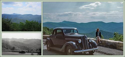 brownmountainoverlook shenandoahnationalpark 1935 1945 2020 triptych