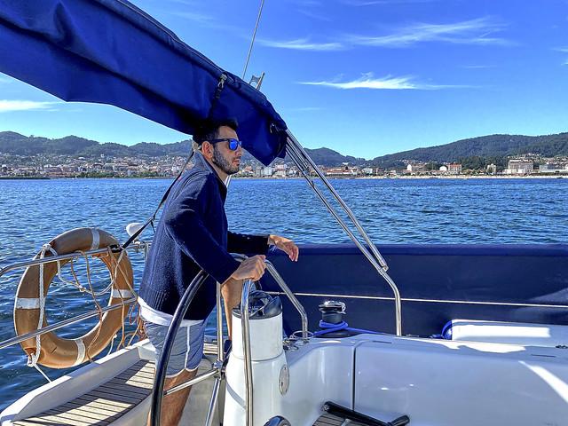 Tarde de navegación en Vigo