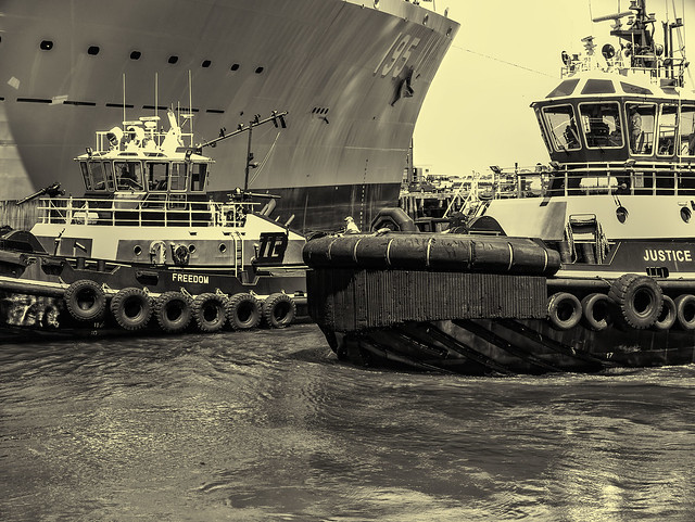 Tugs and Oiler