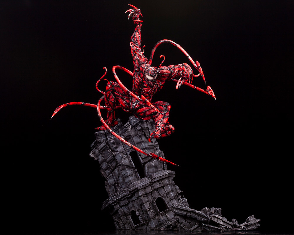 恐怖的血紅身影強襲! 壽屋 Fine Art Statue 系列【MAXIMUM 屠殺】マキシマム・カーネイジ 1/6 比例全身雕像