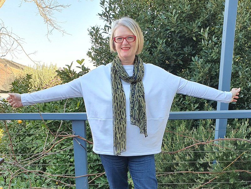 Style Arc Sunny top inn french terry and cotton spandex