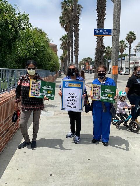 UCLA Santa Monica June 24 rally against layoffs 2