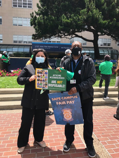 UCSF June 24 rally against layoffs 2