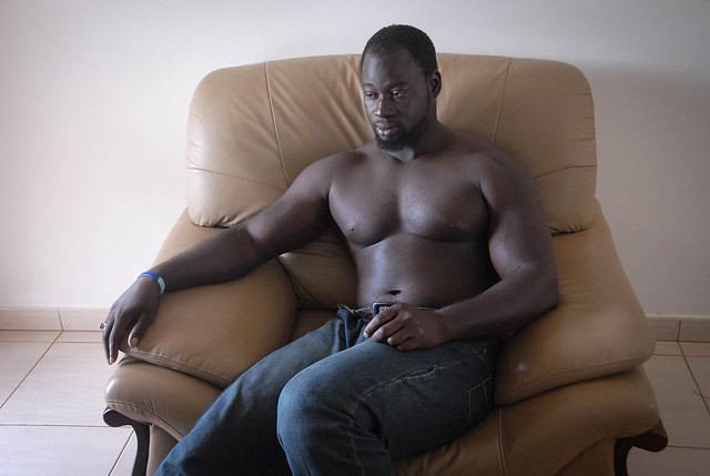 A bodybuilder - The Gambia