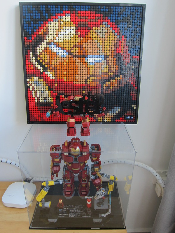 LEGO Art Marvel Studios Iron Man 31199 - Iron Man HulkBuster Mark I - With Friends