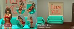 "Creative Stylez -  Backdrop and Poses ""I Love You"""