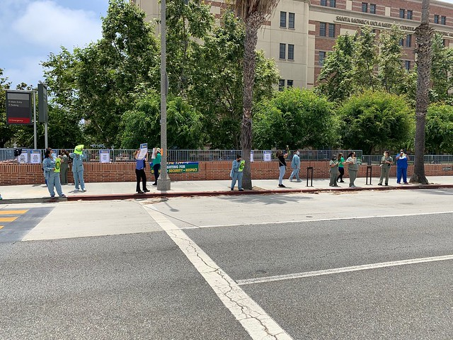 UCLA Santa Monica June 24 rally against layoff 4